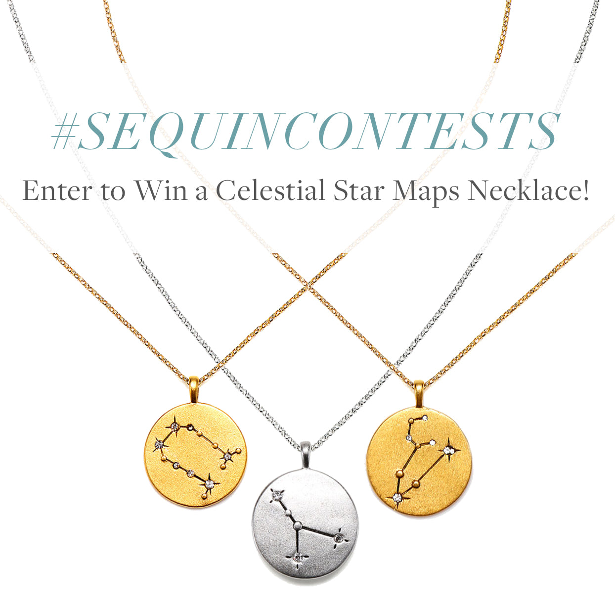 #SequinContests - Enter to Win a Celestial Star Maps Necklace!