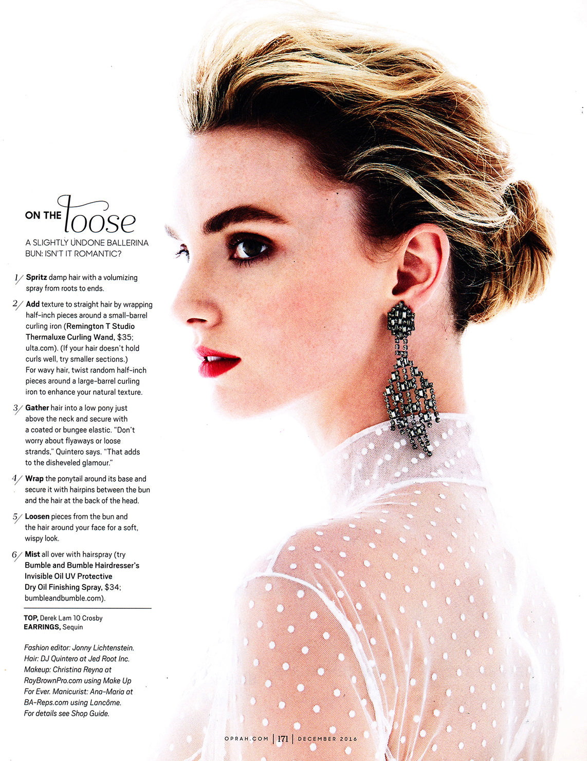 Sequin's Chantilly Drop Earrings as seen in O, The Oprah Magazine