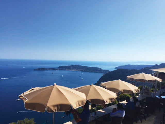 #JetSetSequin - Saint-Tropez view with umbrellas