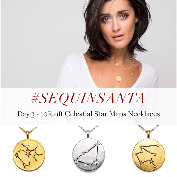 #SequinSanta Day 3 - 10% off Celestial Star Maps