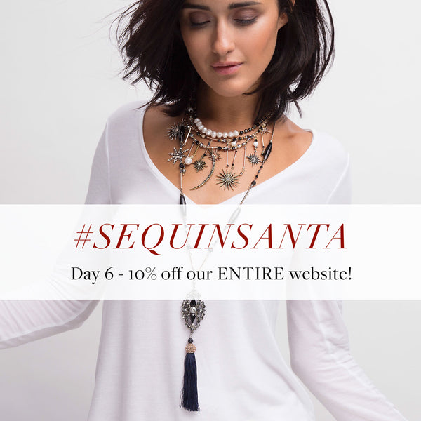 #SequinSanta Day 6 - 10% off sitewide with code FACEBOOK10