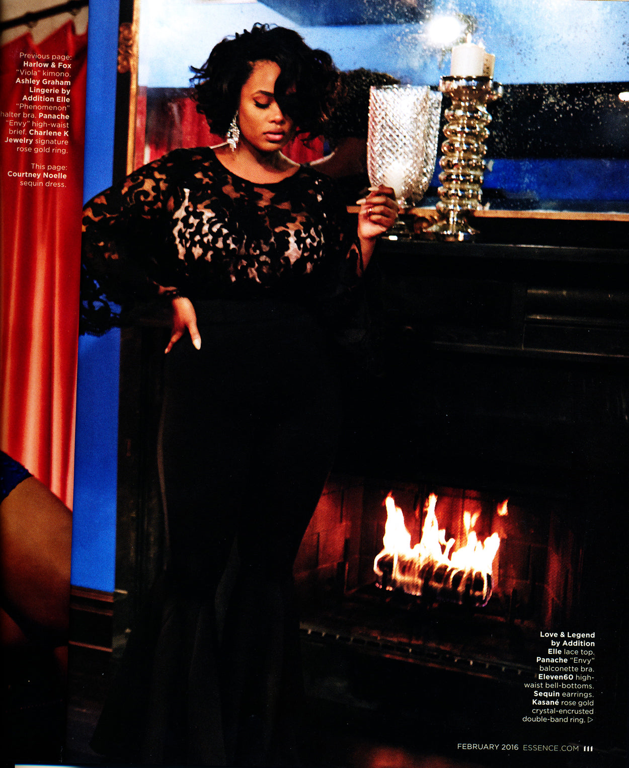 Sequin Earrings in the February Issue of Essence Magazine