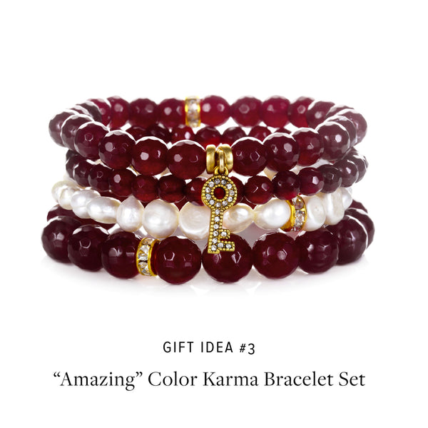 """Amazing"" Color Karma Semi-Precious Bracelet Set"