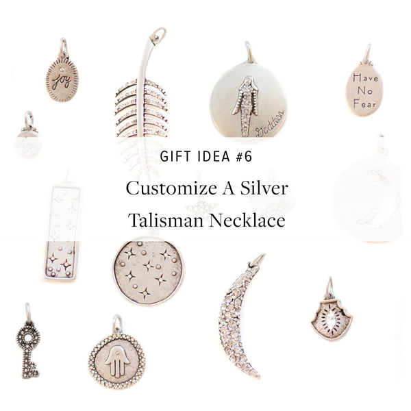 #SequinGifts Idea #6 - Create Your Own Silver Talisman Necklace