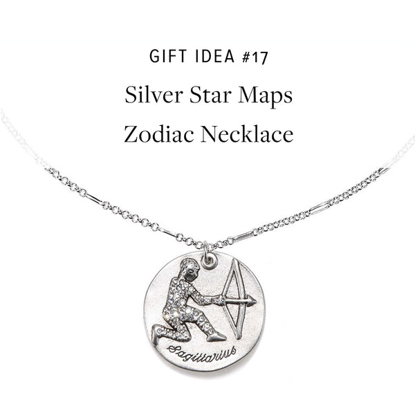 #SequinGifts Idea 17 - Zodiac Star Maps Necklace in Silver