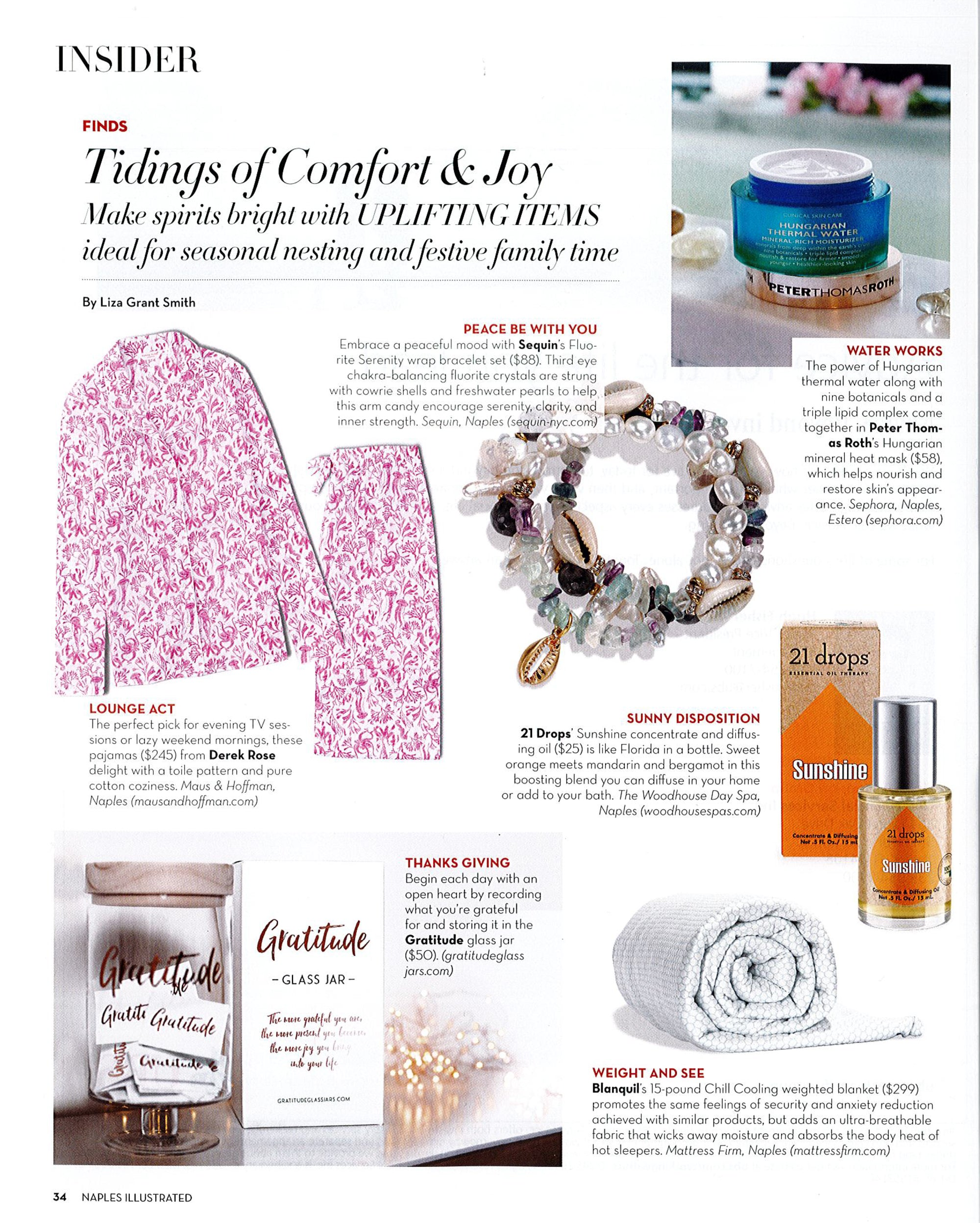 Sequin Bracelets Featured in Naples Illustrated