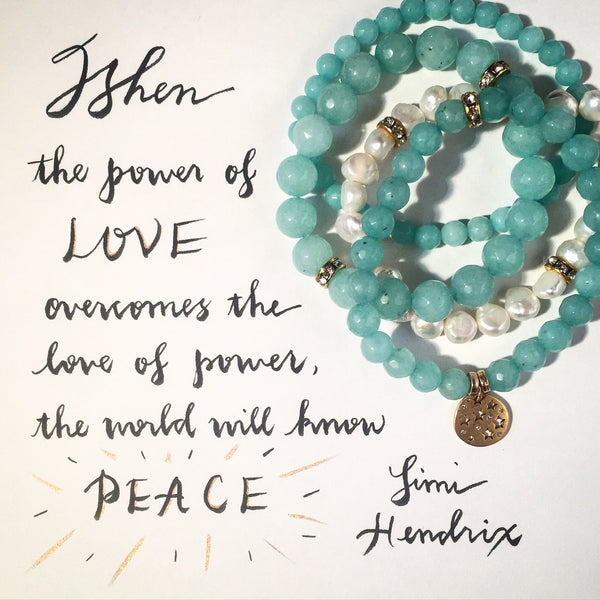 "#PeaceForParis - Color Karma ""Peaceful"" Bracelets"