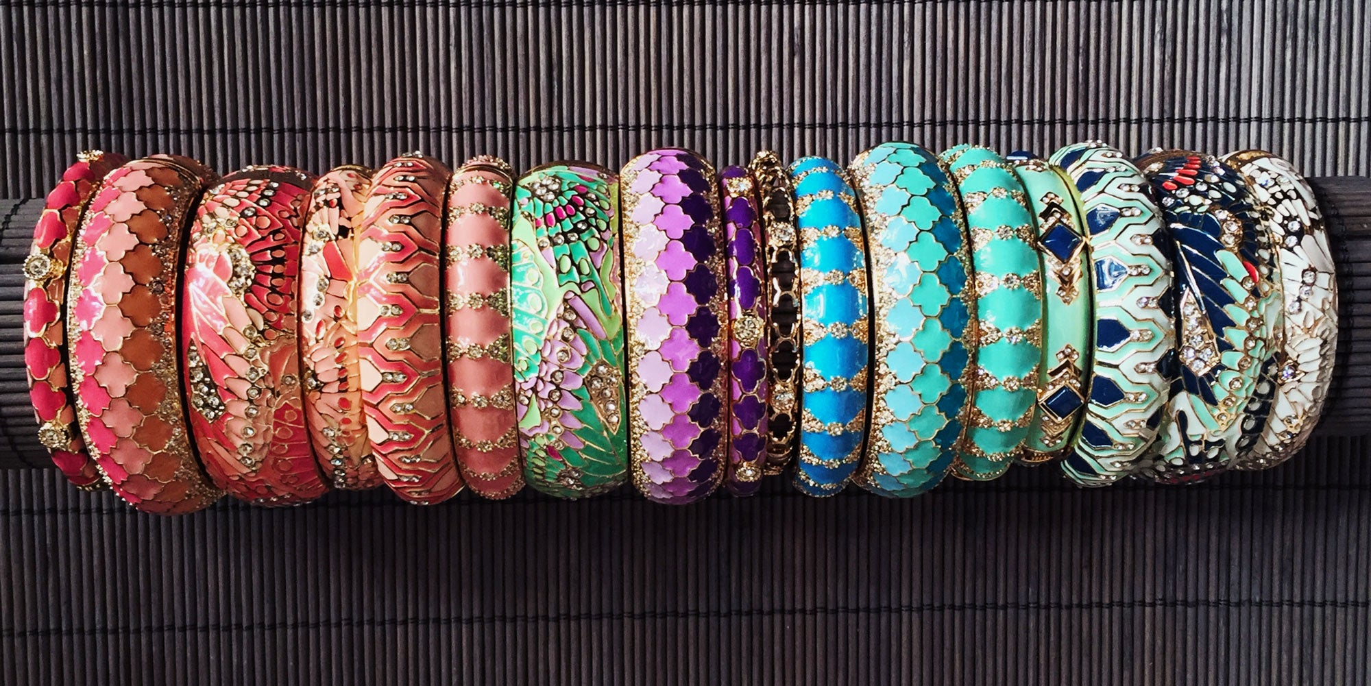 Sequin Marrakesh Enamel Bangle Collection