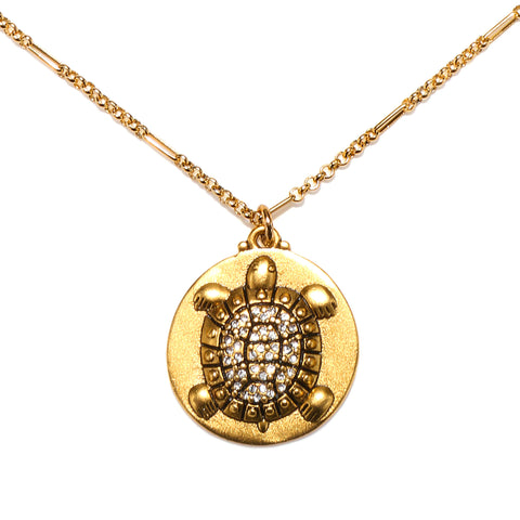 Turtle Medallion Talisman Necklace