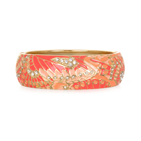 Mariposa Coral Wide Bangle Bracelet