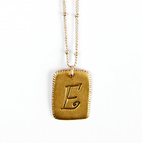 """E"" Smooth Initial Necklace"