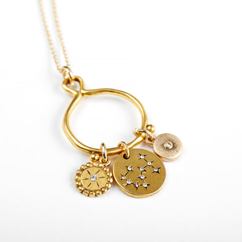 Scorpio 3-Charm Necklace