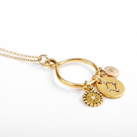 Libra 3-Charm Necklace