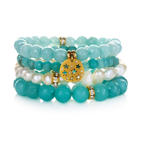 """Peaceful"" Color Karma Bracelet Set"