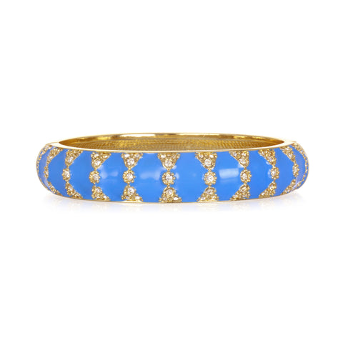 Moorish Blue Medium Bangle Bracelet
