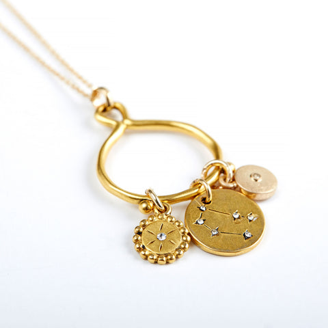 Gemini 3-Charm Necklace