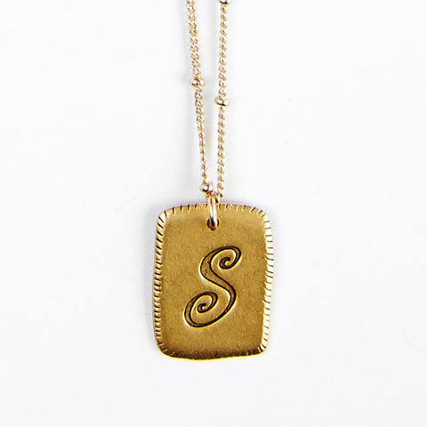 """S"" Smooth Initial Necklace"