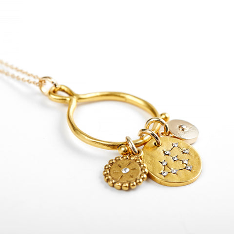 Leo 3-Charm Necklace