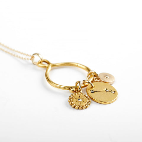 Aries 3-Charm Necklace