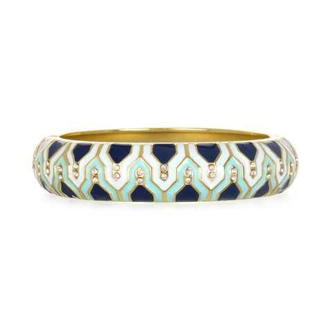 Casbah Navy Medium Bangle Bracelet