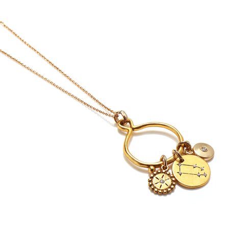 Taurus 3-Charm Necklace