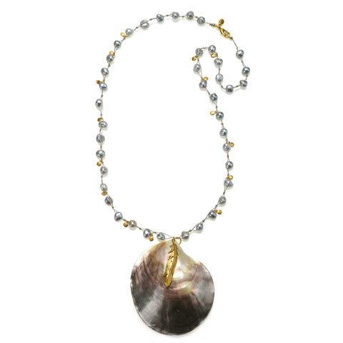 Abaco Pearl Statement Pendant Necklace