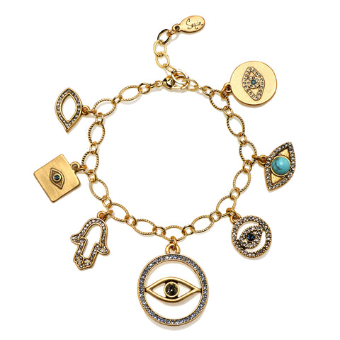 All The Evil Eyes Talisman Bracelet
