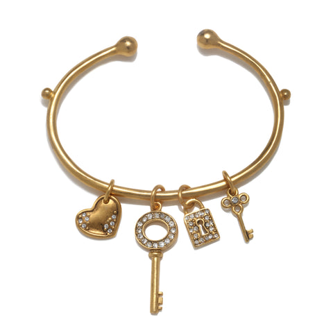 """All You Need Is Love"" Talisman Cuff Bracelet"