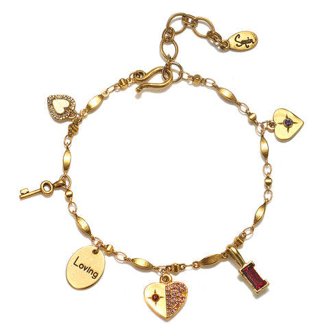 """All The Love"" Multi Charm Bracelet"