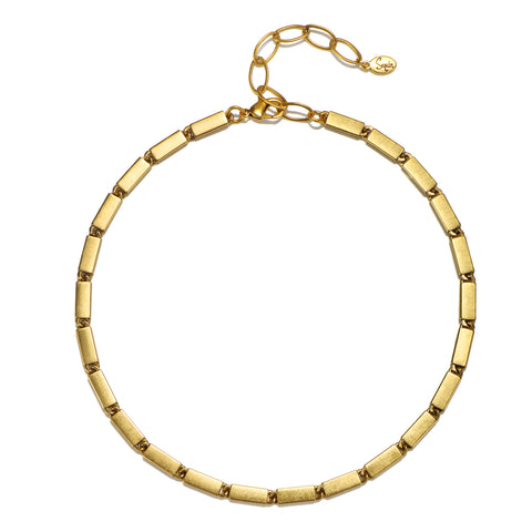 Amelia Block Link Choker Necklace