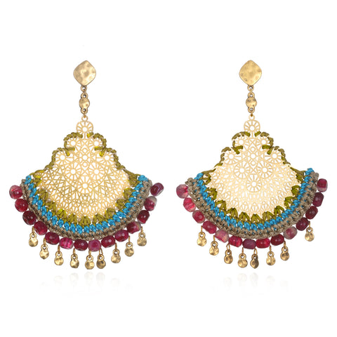 Amelia Artisan Statement Earrings