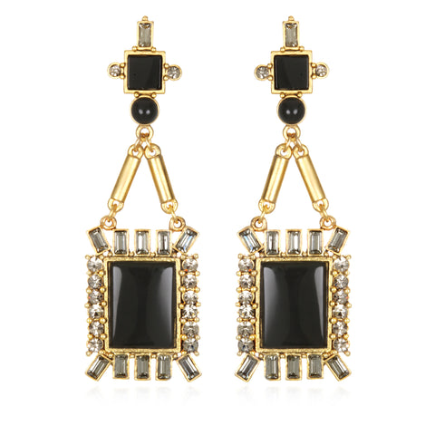 Antoinette Earrings - Black Onyx