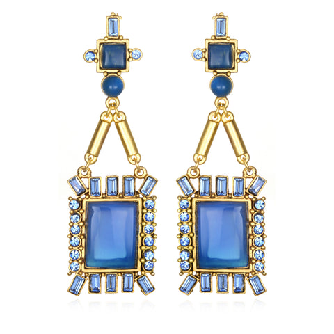 Antoinette Earrings - Blue Jade