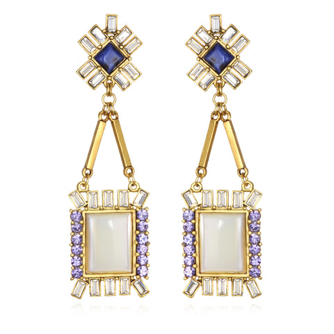 Antoinette Earrings - Mother of Pearl