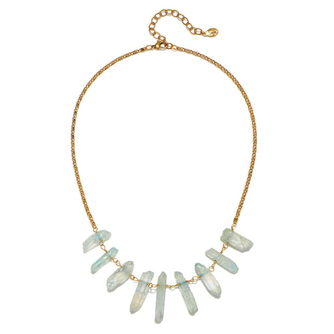Aqua Aura Crystal Choker Necklace