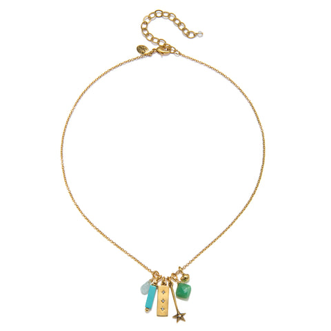 Aqua Short Harmony Necklace