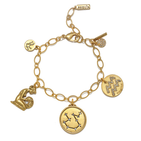 Aquarius Super Zodiac Star Maps Bracelet