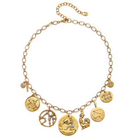 Aquarius Super Zodiac Star Maps Necklace
