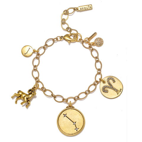 Aries Super Zodiac Star Maps Bracelet