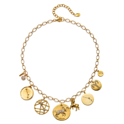 Aries Super Zodiac Star Maps Necklace