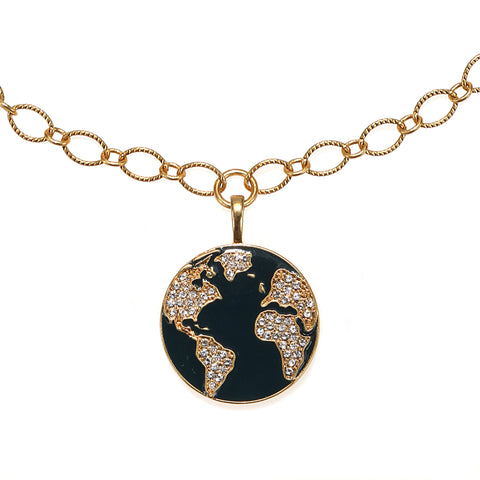 Around The World Long Enamel Talisman Necklace