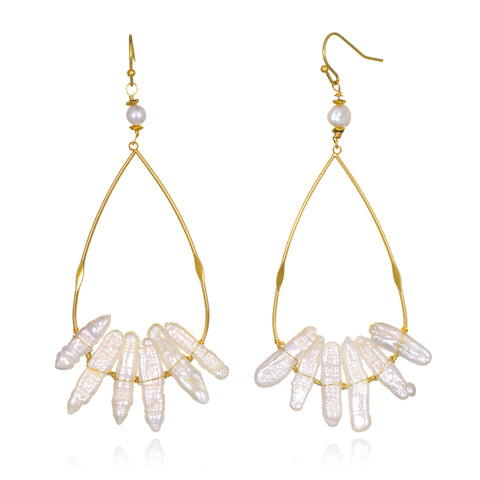 Aura Freshwater Pearl Earrings