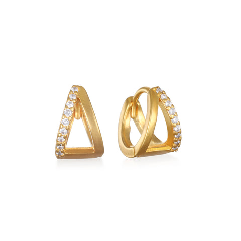Avery Huggie Hoop Earrings