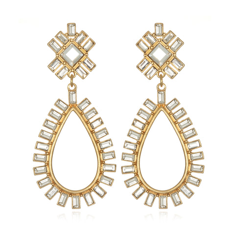 Baguette Teardrop Earrings