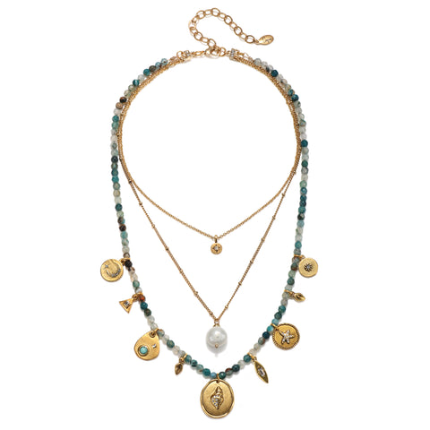 Beach Treasure 3-Layer Talisman Necklace