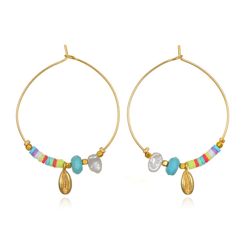 Beach Treasure Hoop Earrings