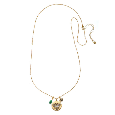 Bee 3-Charm Talisman Necklace