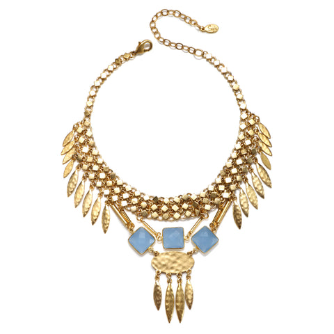 Blue Bermuda Statement Choker Necklace
