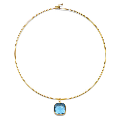 Blue Cannes Choker Necklace