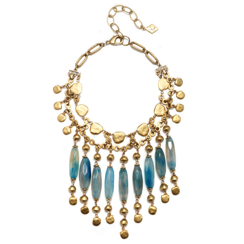 Blue Cayman Statement Choker Necklace